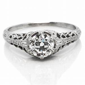 vintage filigree diamond platinum engagement ring claude With vintage platinum wedding ring