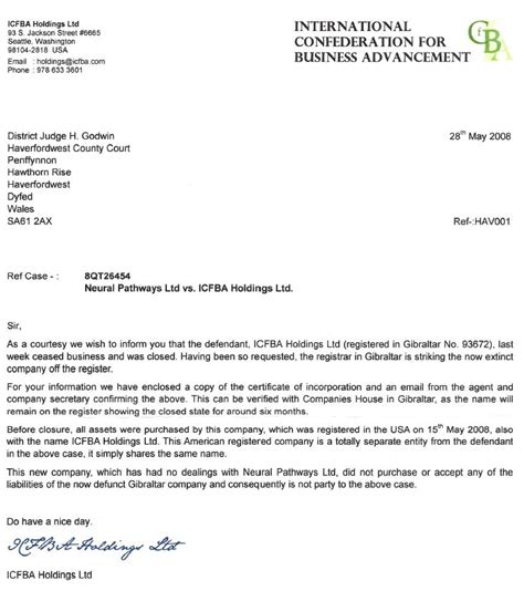 diary   ccj  icfba holdings     sue