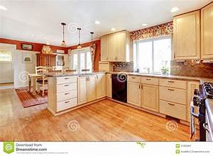 Simple Warm Colors Kitchen Room With A Small Dining Area