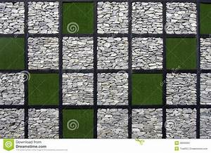 Artificial grass and stone pattern wall stock image for Interior design grass wall