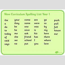 Spellings  Springfield Primary