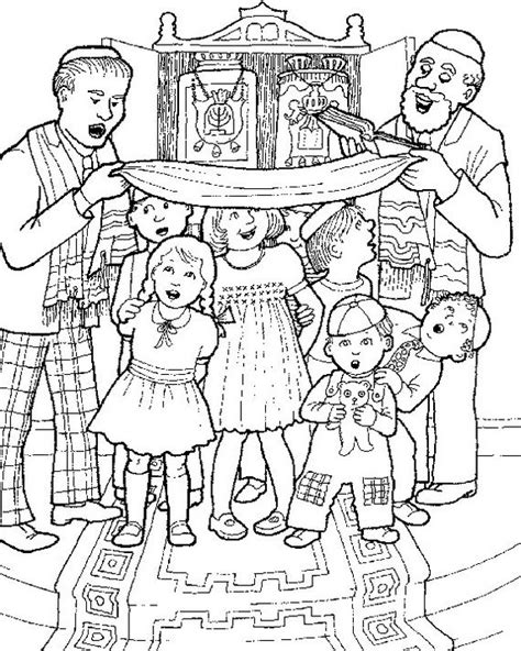 jewish coloring pages  kids simchat torah  simchat
