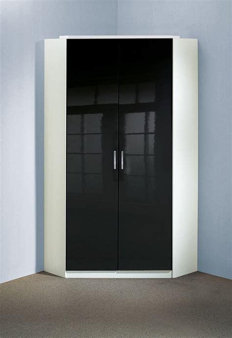 armoire chambre noir laqué armoire d 39 angle design 2 portes noir laqué blanc orphea