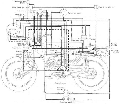 wiring diagram yamaha 100 lt2 motorcycle 61468 circuit