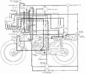 Wiring Diagram Yamaha 100 Lt2 Motorcycle  61468