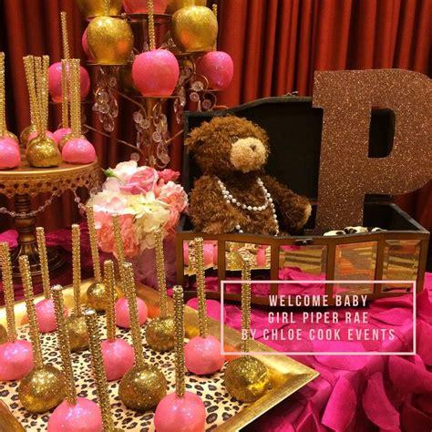 pink dessert table baby shower pink gold leopard ballerina baby shower dessert table