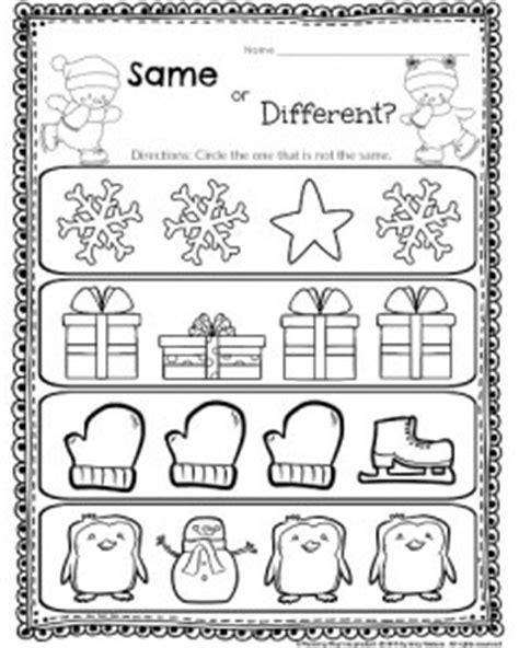 kindergarten math and literacy worksheets for december 560 | Same or different Worksheet 240x300