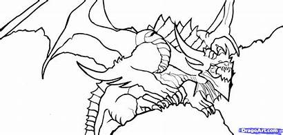 Dragon Coloring Dragons Pages Realistic Sheets Scary