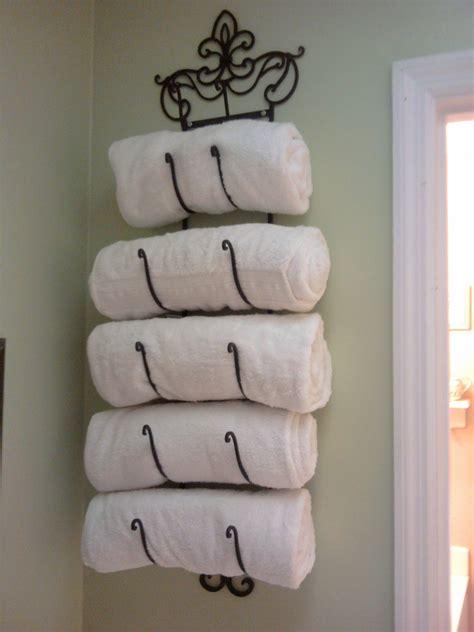26 great bathroom storage ideas wine rack towel holder got this idea from