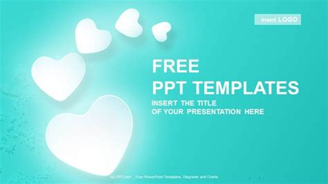 love hearts abstract powerpoint templates