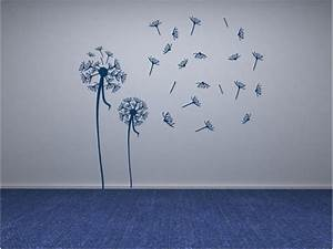 Floral Wall Design Wall Decals Stickers Blowing
