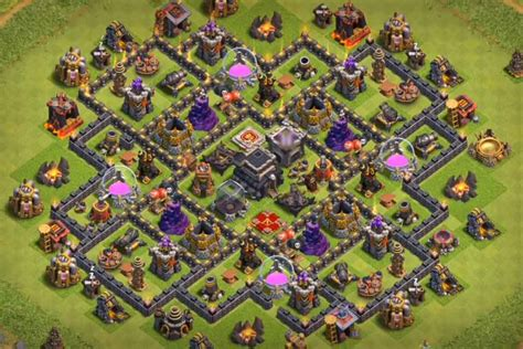 4 Best TH9 Defense Bases With Bomb Tower 2016 2017 - Best ...