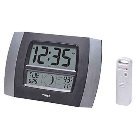 digital atomic desk clock timex 75331t atomic digital clock with temperature moon
