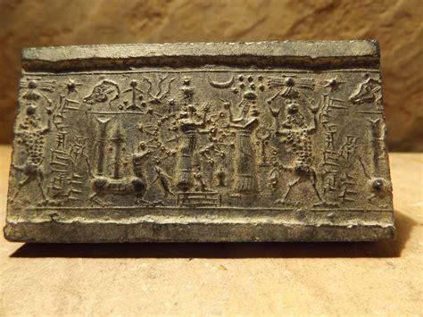 Ishtar - Mesopotamia - Assyrian cylinder seal impression ...
