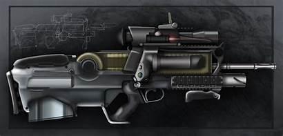 Futuristic Assault Rifle Gasteiz Deviantart Bullpup Acr