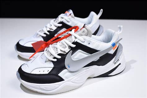 Buy Offwhite X Nike M2k Tekno Blackwhitegrey Shoes For Sale