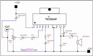 Audio Power Amplifier Circuit Diagram