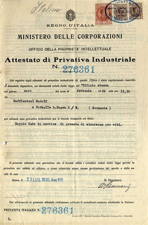 Ufficio Brevetti Svizzera - brevetti di rudolf rafflenbeul stahlwarenfabrik