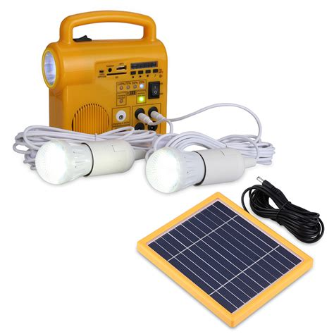 multi function solar panel lighting system 2 led light