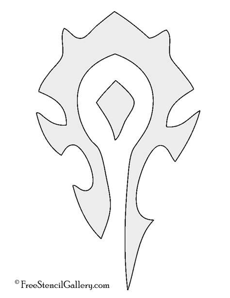 Warcraft Horde Symbol Stencil | Free Stencil Gallery