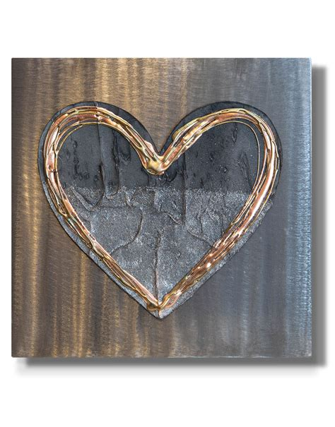 4.6 out of 5 stars with 11 reviews. Love Heart Burnt Copper - Silver Wall Art, Contemporary Art UK