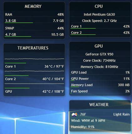 rainmeter skins   minimalist desktop