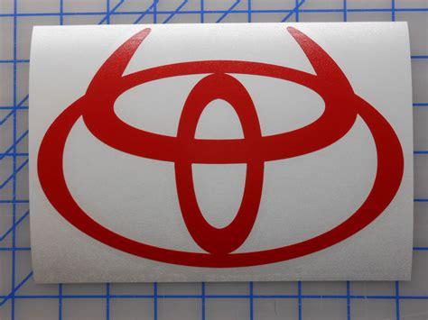 Large Toyota Horns Emblem Sticker Decal 12