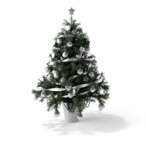 christmas tree with white toys 3d model cgtrader com