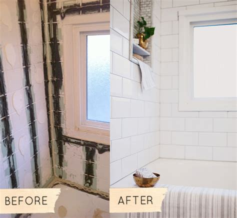 Before And After Pictures Of Painted Bathroom Tiles by Before After S 1950s Bathroom Makeover