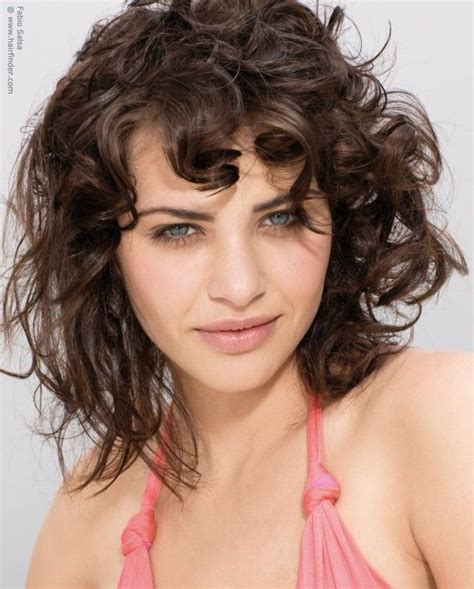 hairstyles for naturally curly hair with bangs hair