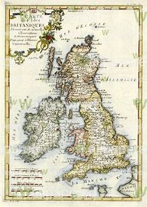 Antique Map Of Great Britain