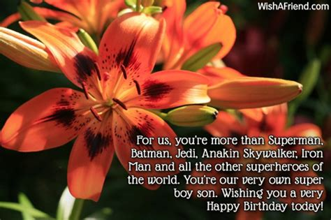 youre   superman son birthday message