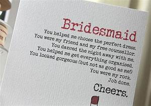 how to write a thank you letter to your bridal party With letter to my bridesmaid