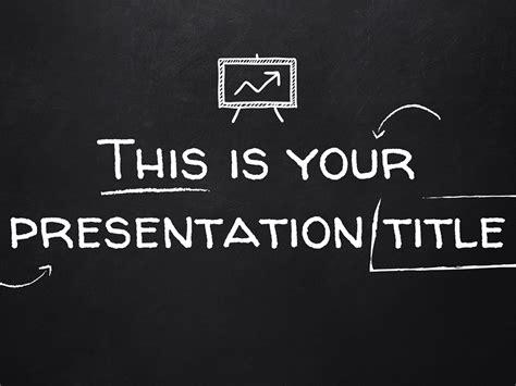 template blackboard style