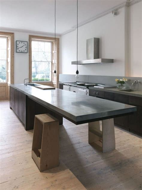 kitchen island with table extension cantilevered tables floating in modern luxury homes