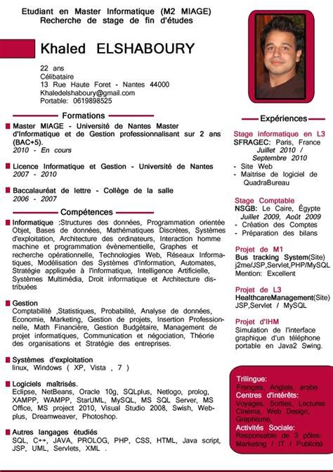 Exemple Cv En Ligne by Cv En Ligne Vitae