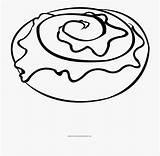 Coloring Roll Cinnamon Circle Cartoon Netclipart sketch template