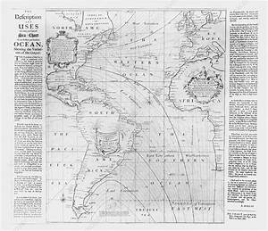 A Chart Of Magnetic Of Equal Variation Halley 39 S Chart Of The Atlantic 1700 Stock Image E056