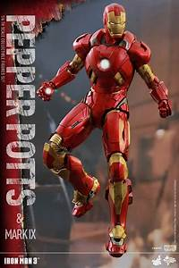 Exclusive Hot Toys Pepper Potts & Iron Man Mark IX Set ...
