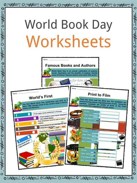 world book day facts worksheets history celebrations