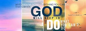 God Will Step In Facebook Cover - Religion