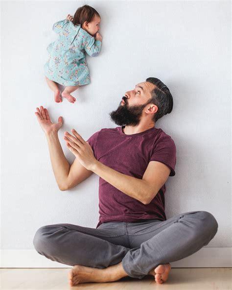 life dad nails newborn   gravity defying shoot