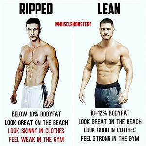 Ripped Vs Lean By  Musclemonsters   Being Ripped Is All Well And Good Until You Have To Wear A