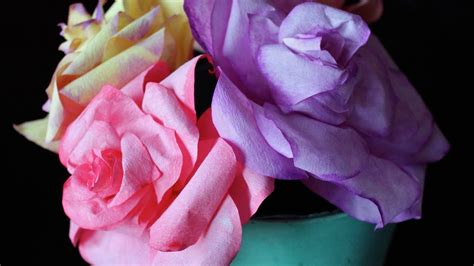 realistic diy coffee filter roses  template youtube