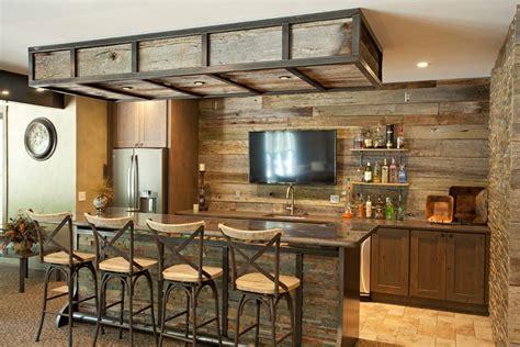 Half Bathroom Ideas Brown by Basement Bar Ideas Rustic Home Bar Rustic With Stone Wall