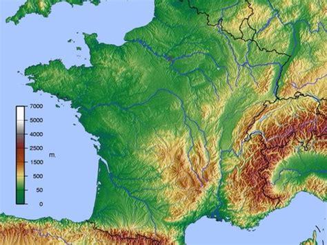 Topographische Karte Frankreich