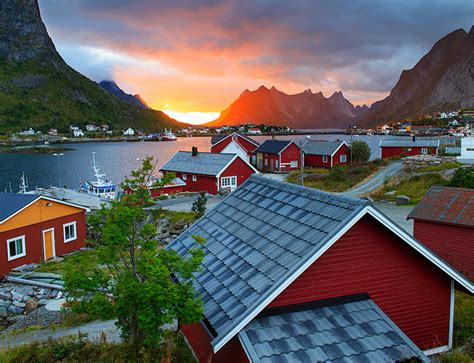 Reine Reine Norway A Magnificent Sunset At The Reine