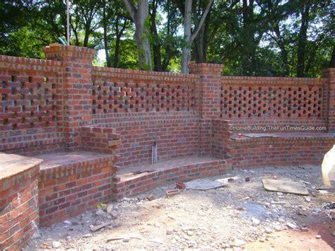 brick fence designs pierced brick walls a classic screen alternative fun time piercing and bricks