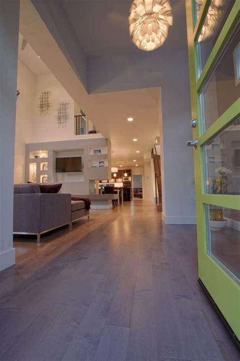 entry  neutral modern living room  open design hgtv