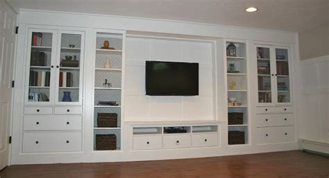 ikea media wall and now it s done cabinets built ins and design